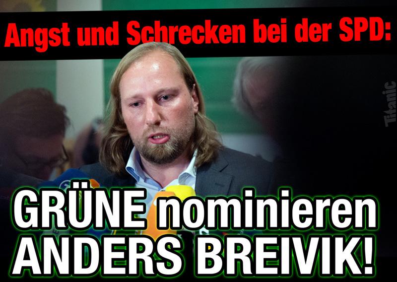 Die Grünen nominieren Anders Breivik